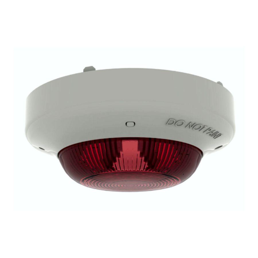 Addressable Beacon - Ivory case, red lens (non EN5...