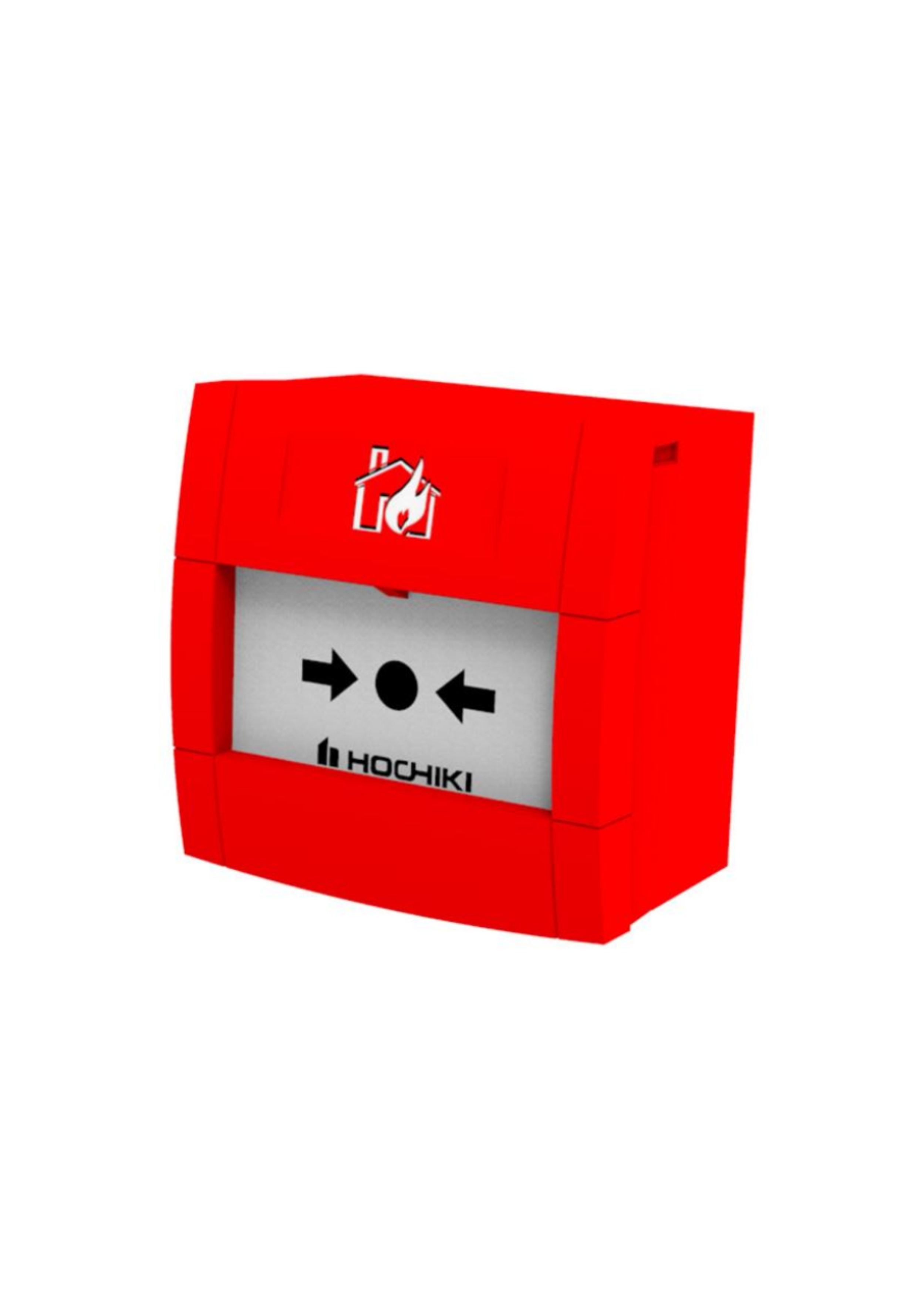 Conventional 2 Wire Call Point with red back box 1...