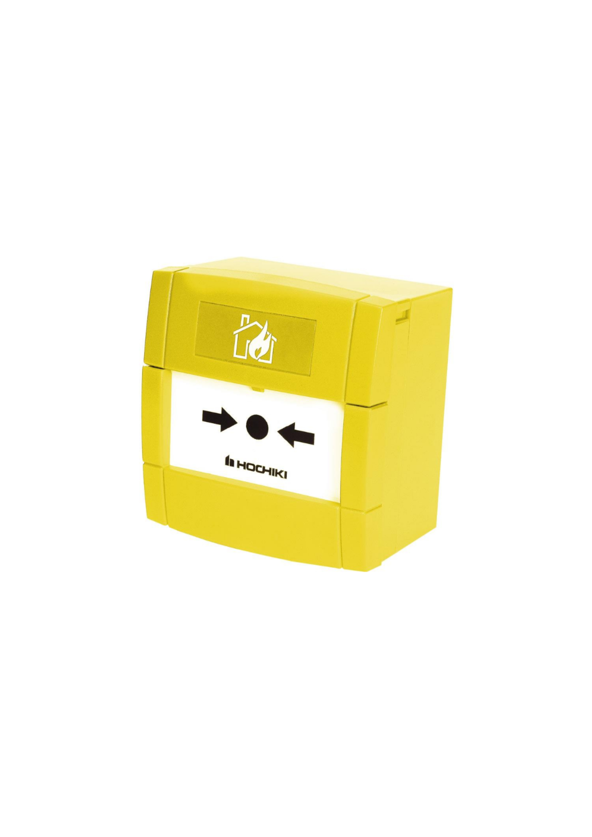 Conventional Call Point with Yellow Back Box 12400...