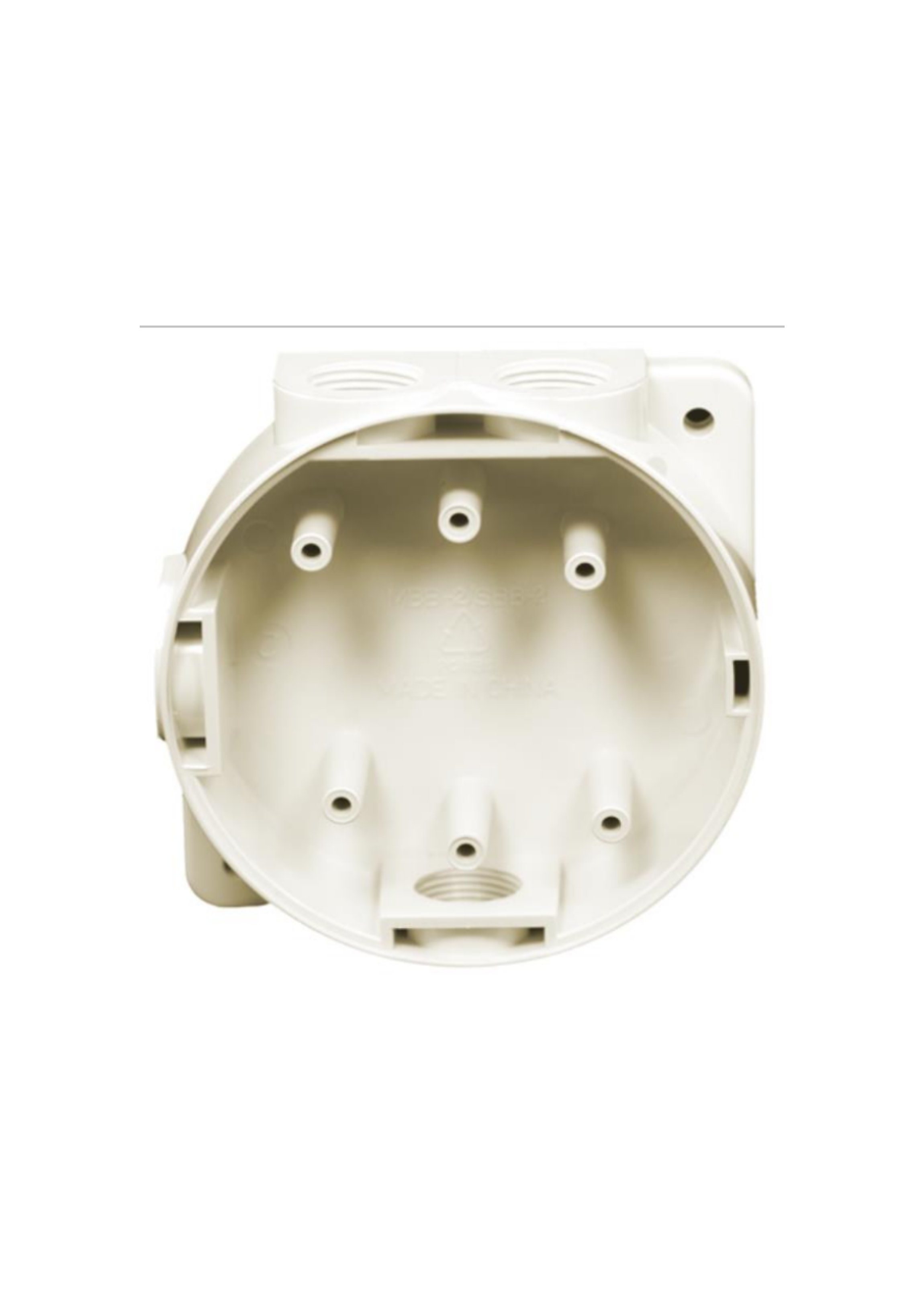 Marine Mounting Back Box with Glands - White 16706...