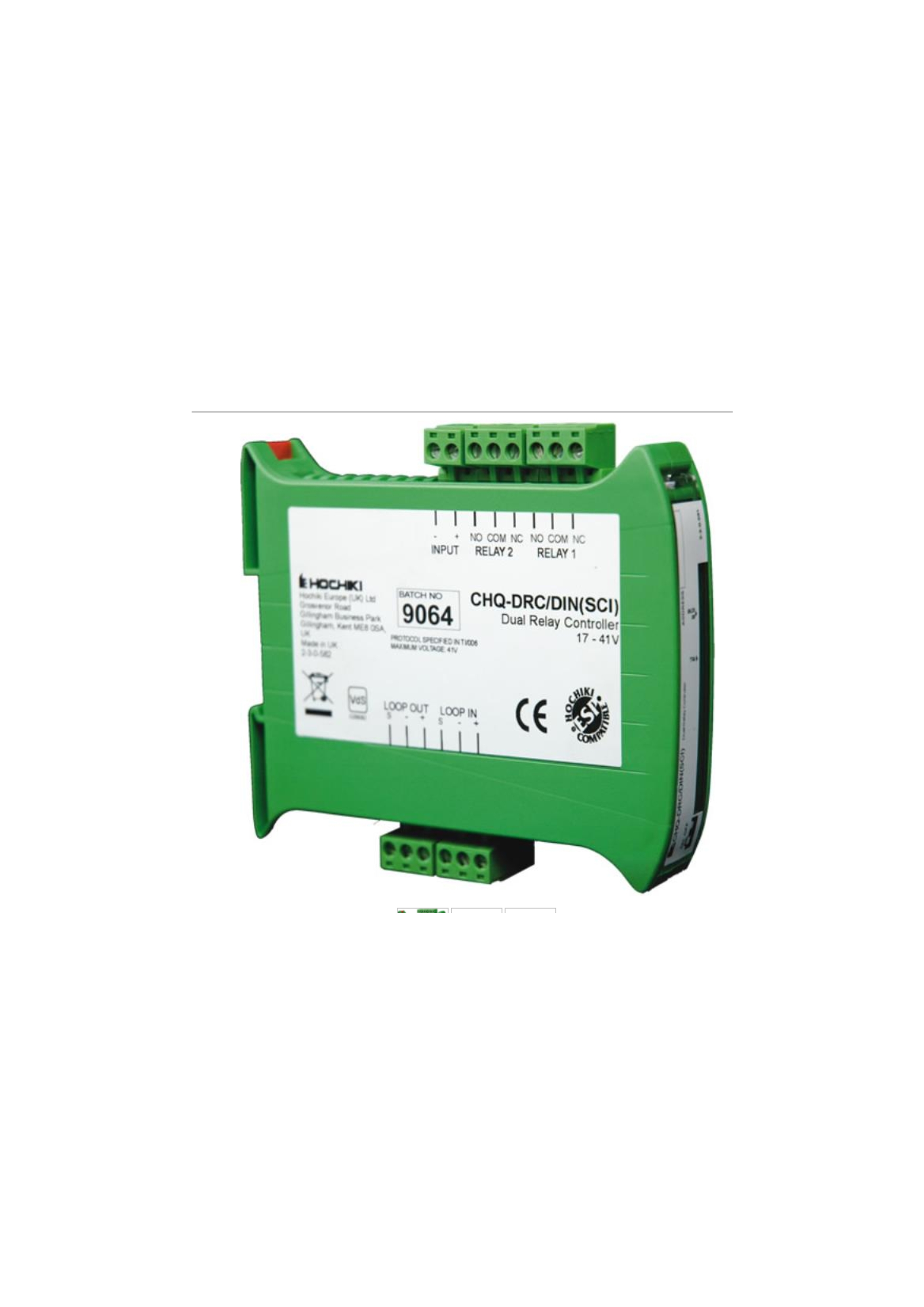 Dual Relay Controller - DIN Enclosure with SCI 143...
