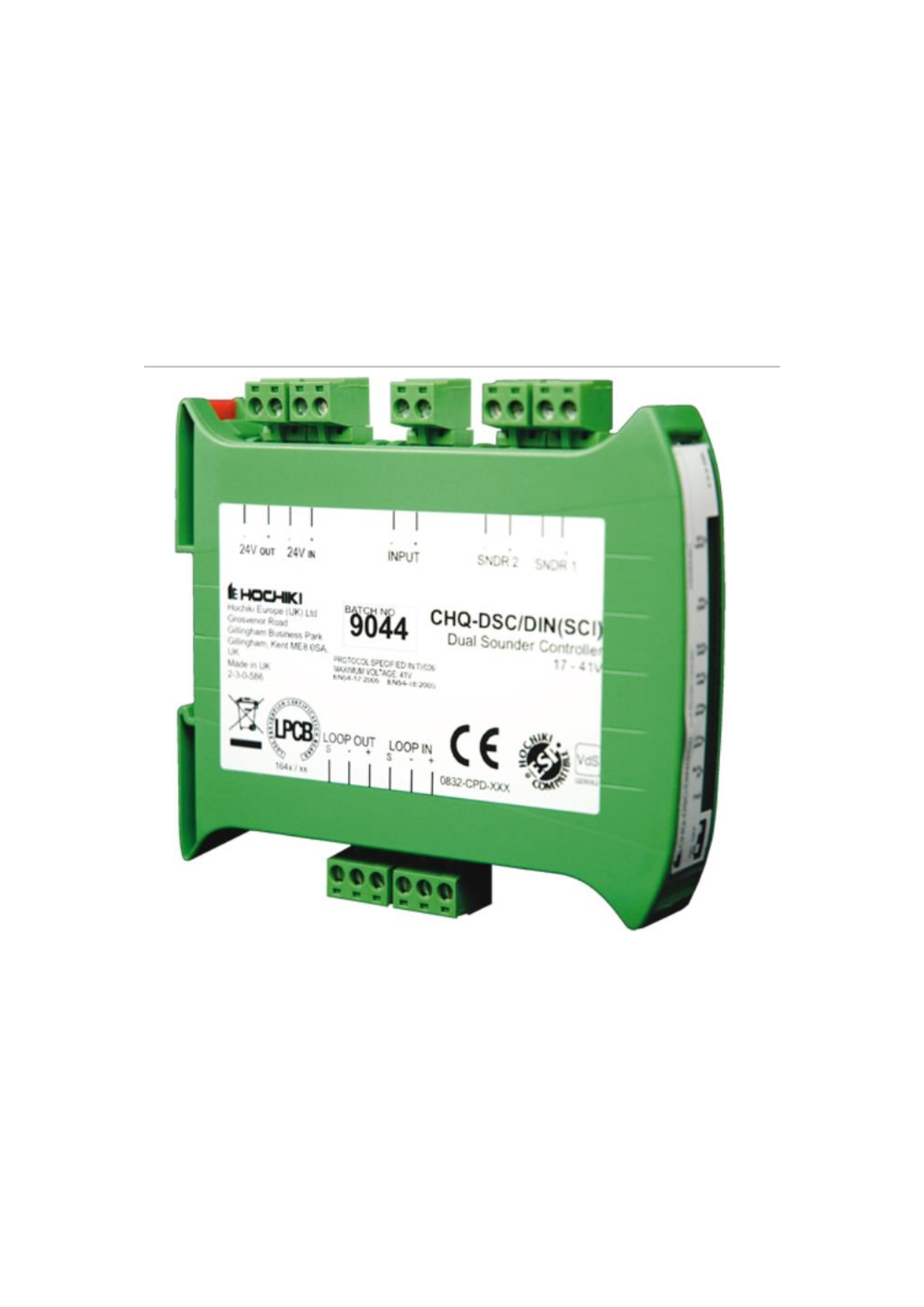Dual Sounder Controller - DIN Enclosure with SCI 1...